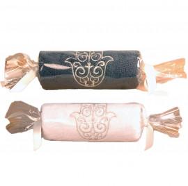 Lot de 3 Serviettes invité main de fatma en forme de bonbon 30x50cm 550gr/m²