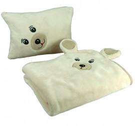 Couverture polaire bébé en forme d'ours
