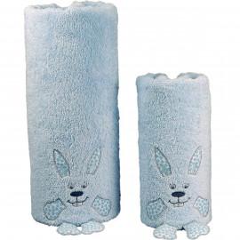 Drap de bain personnalisé bébé en forme de lapin Django