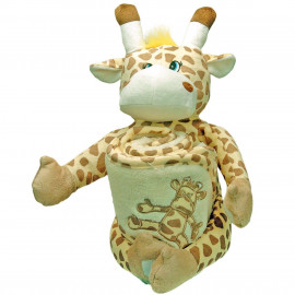 Doudou Cape de bain brodée Girafe à personnaliser