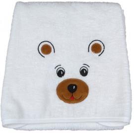 Serviette de toilette bébé en forme d'ours