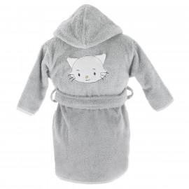 Peignoir personnalisé bébé en forme de chatounet