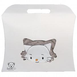Cape de bain personnalisée bébé en forme de chatounet