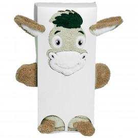 Serviette de toilette personnalisée en forme d'âne Cabochon