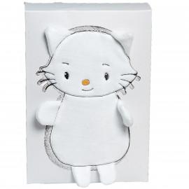 Serviette de toilette personnalisée en forme de chatounet