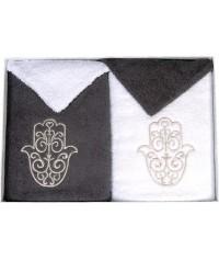 Coffret cadeau serviettes brodées Main de Fatma