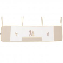 Tour de lit bébé coton jersey Pompon Le Lapin