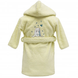 Peignoir personnalisé bébé brodé Jeannot