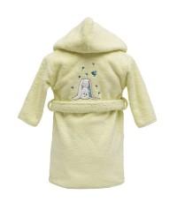 Peignoir personnalisé bébé brodé Jeannot (1 an)