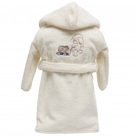Peignoir personnalisé bébé brodé Choupy