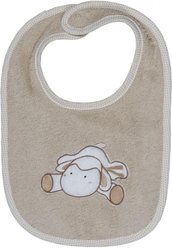 Bavoir bébé personnalisé brodé Doudou Mouton