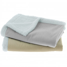 Plaid doublé pour enfant en peau lainée 75x100cm