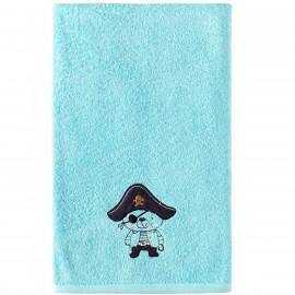 Serviette de bain personnalisée brodée ours Pirate