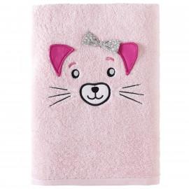 Serviette de bain personnalisée brodée Kathy Cat