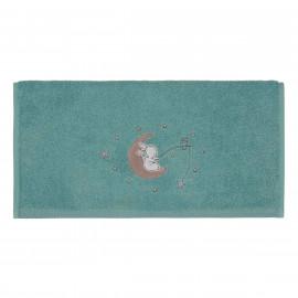 Serviette de toilette personnalisée brodée Moon Rabbit