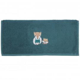 Serviette de toilette personnalisée brodée Baby Fox