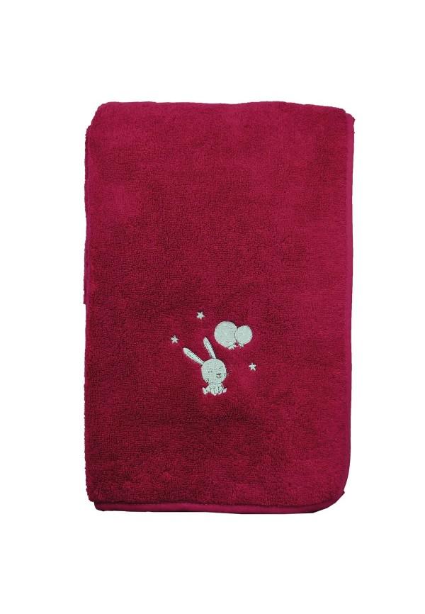Serviette de bain personnalisée Lapin Baby Sensoft 70x130cm