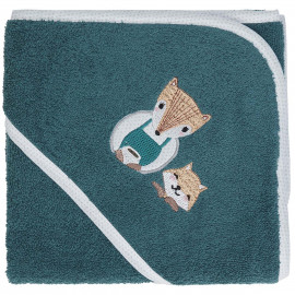 Cape de bain personnalisée brodée Baby Fox
