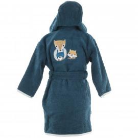 Peignoir personnalisé bébé brodé Baby Fox (1 et 2 ans)