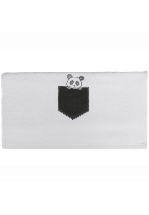 Serviette de toilette personnalisée brodée Panda