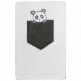 Serviette de bain personnalisée brodée Panda