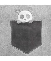 Peignoir personnalisé bébé brodé Panda (1 et 2 ans)