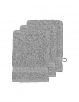 Lot de 3 gants de toilette uni 550gr/m²