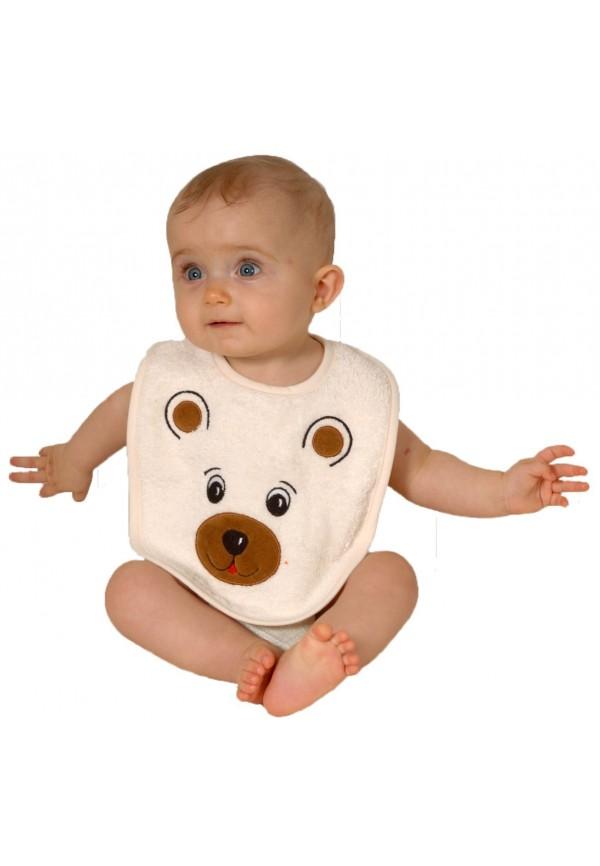 Bavoir bébé en forme d'ours