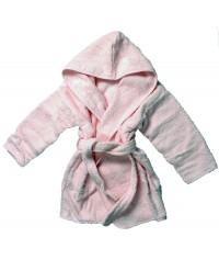 Peignoir bébé uni biais 100% coton
