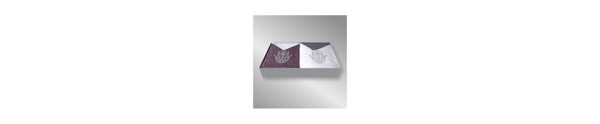 Coffret cadeau serviettes brodées